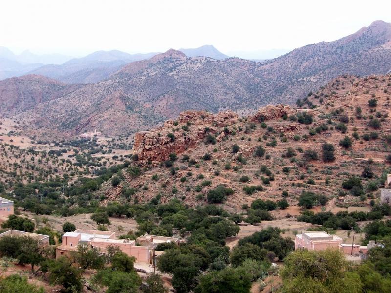 Las montañas de Tafraoute.
