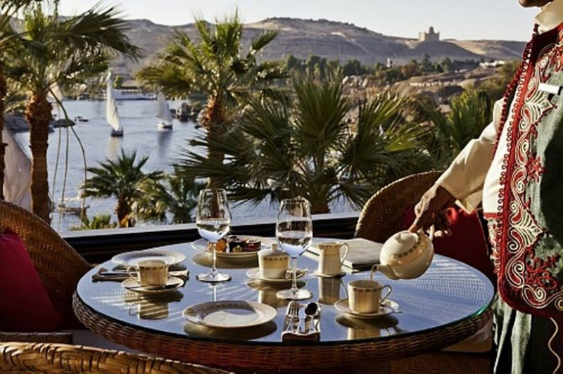 View from Old Cataract Hotel in Aswan