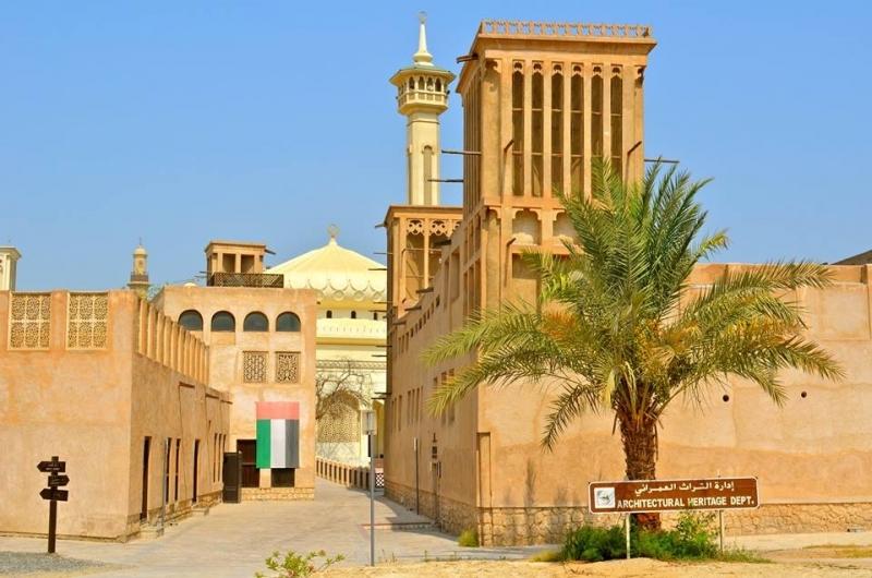 Quartiere di Bastakiya a Dubai
