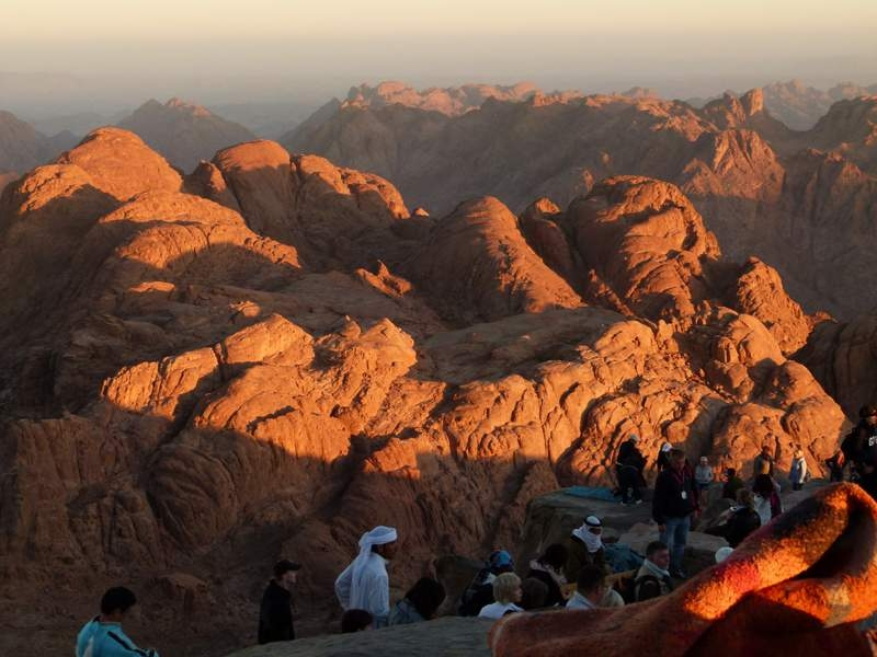 Sun Rise at The Top of Moses Mountain - Sinai