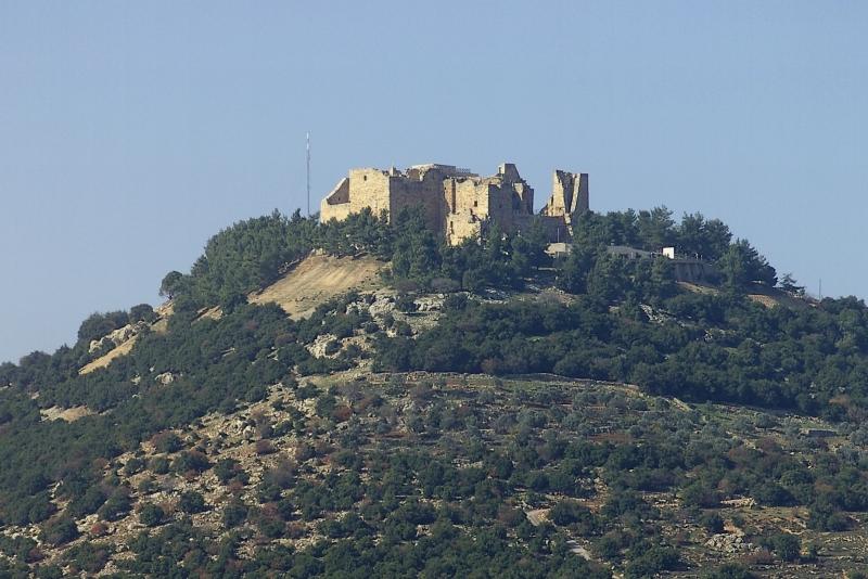 Castelo de Ajloun na Jordânia