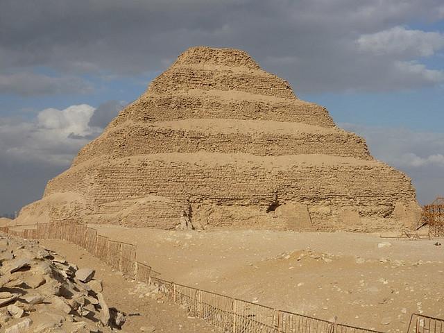 La pyramide de Djoser à Saqqarah