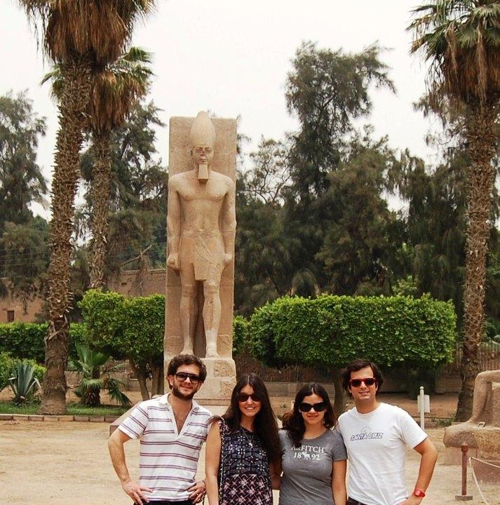 Sculpture du Moyen Empire restaurée au nom de Rames II.