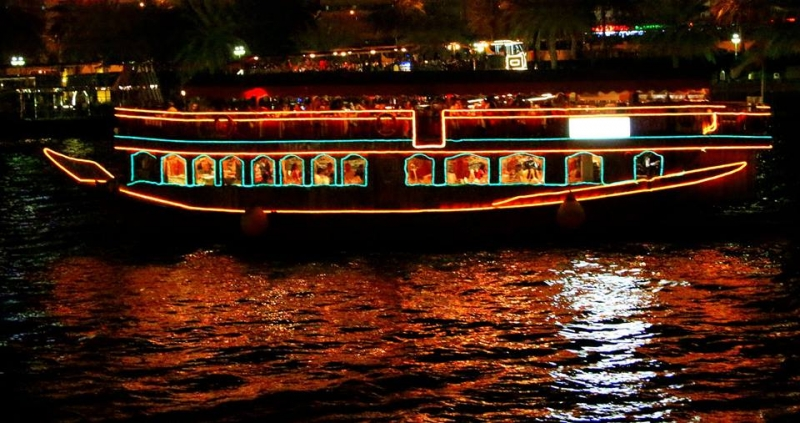 Dhow Dinner Cruise. Dubai Creek