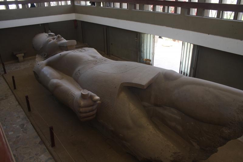 Statue of Ramses II in Memphis Museum