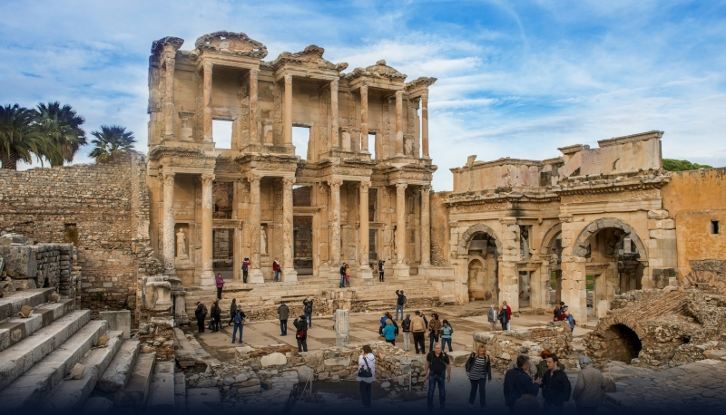 Celsus Library in Ephesus Turkey