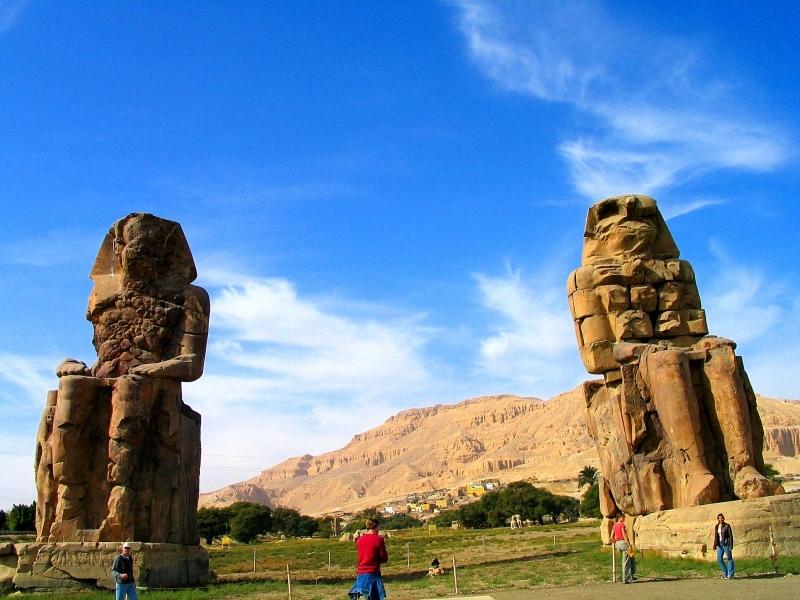 Os Colosso de Memnon, Luxor