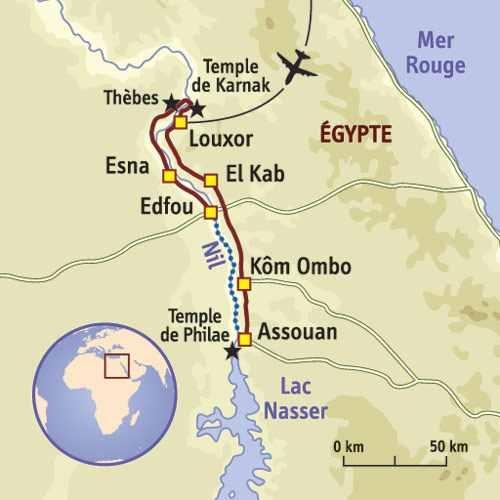 Haute Égypte - Cartes