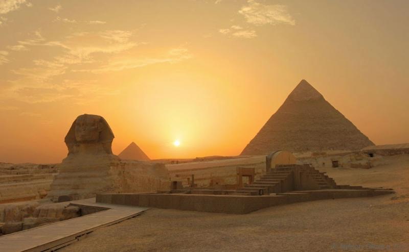 Esfinge e pirâmides de Gizé, Egito