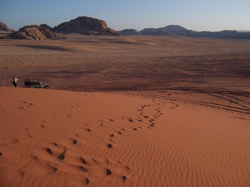 Dune di Sabbia a Wadi Rum