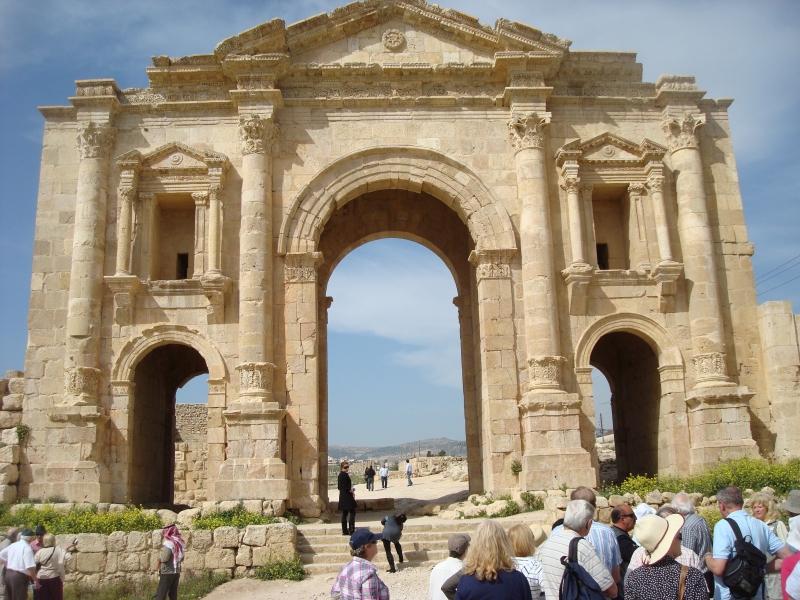 Hadrian's Arch in Jerash, Jordan
