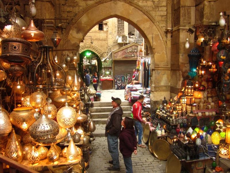 El Bazar de Khan El Khalili.