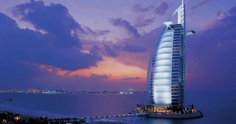Cena en el hotel de Burj Al Arab