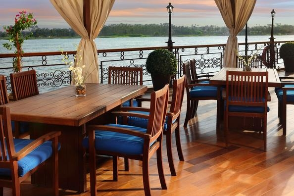 Restaurant on Nile Dahabiya . Luxor