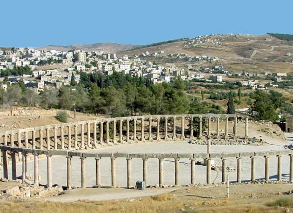Forum oval, Jerash