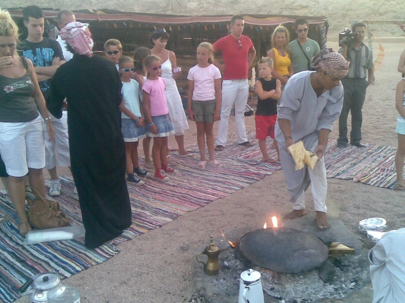 Bread Baking in Bedouin Camp