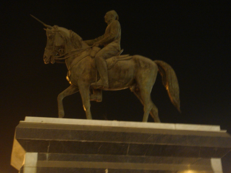 Statue of the Colonel Ahmed Orabi an Egyptian army general During Tewfik Pasha's Reign