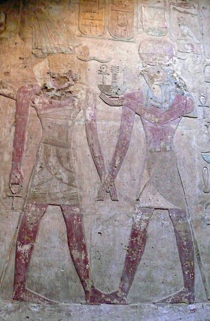 Relief of Thutmose III and the Gods at Amada