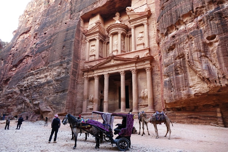Rose red city of Petra.
