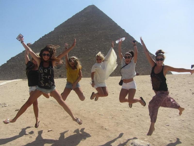 Having Fun at the Pyramids