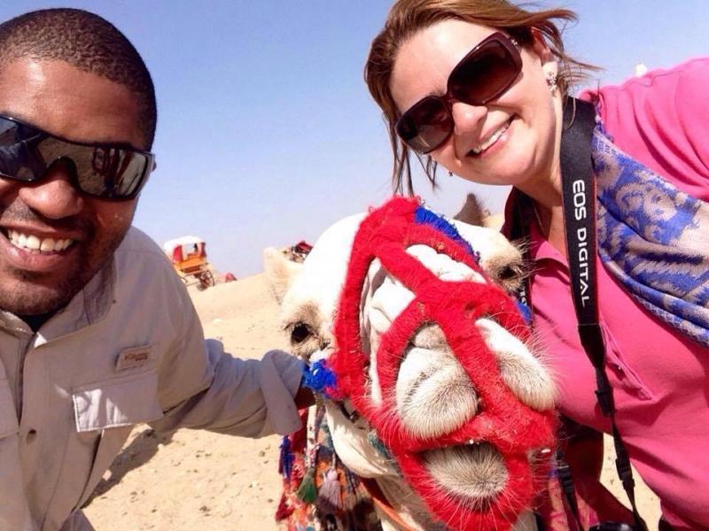 Passeio de camelo em Gizé