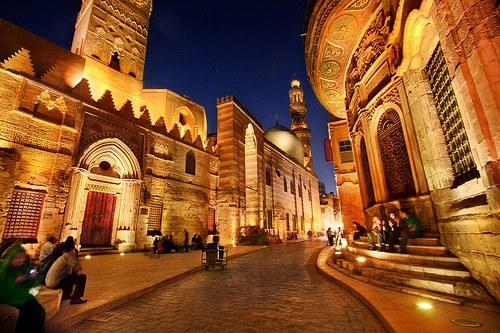 El Moez Street by Night in Old Cairo