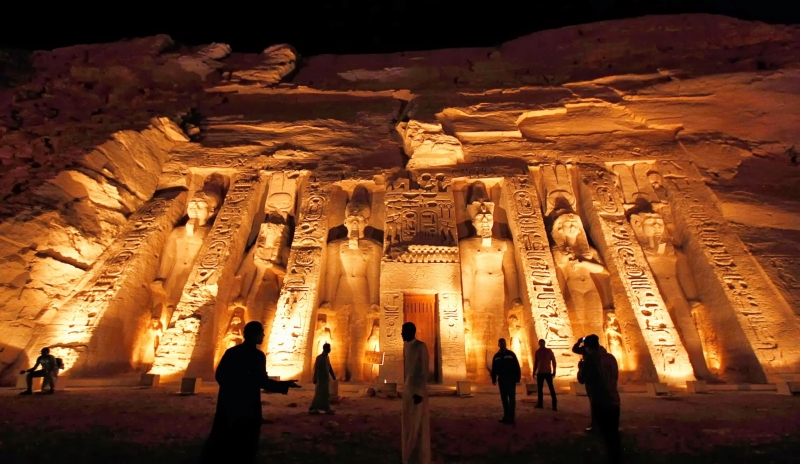 Abu Simbel At Night