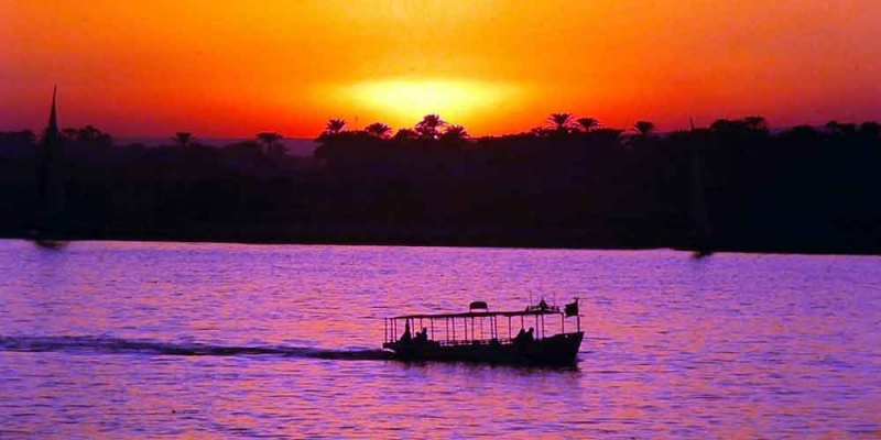 The Sunset in Aswan