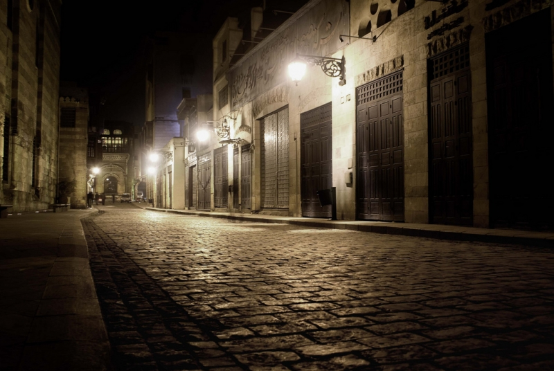 Moez Street by night, Cairo