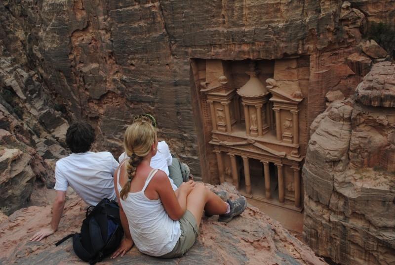 Vista del Tesoro di Petra