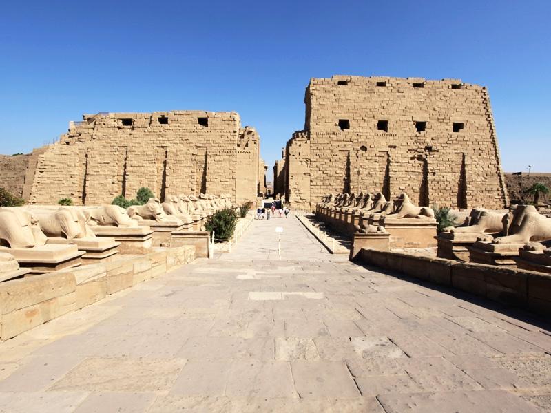 Avenue of Sphinxes in Karnak Temple, Luxor