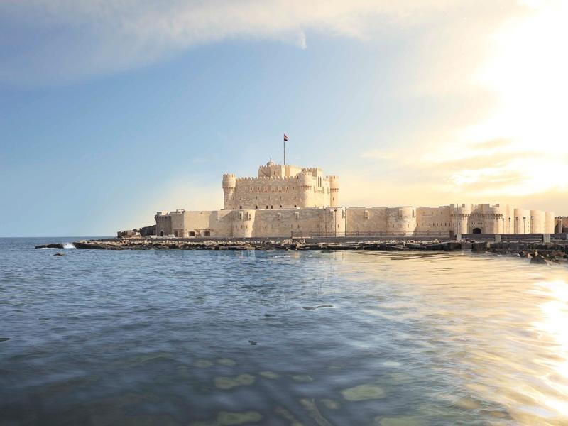 Die Qaitbay-Zitadelle und das Meer