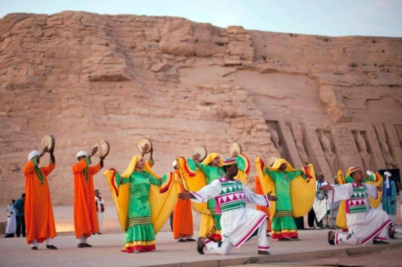 Spettacolo Nubiano ad Abu Simbel