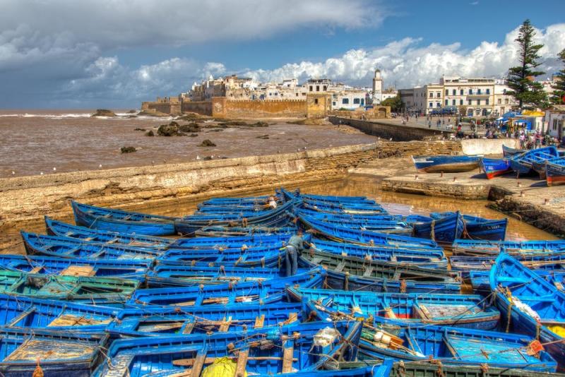 El paisaje en Essaouira.