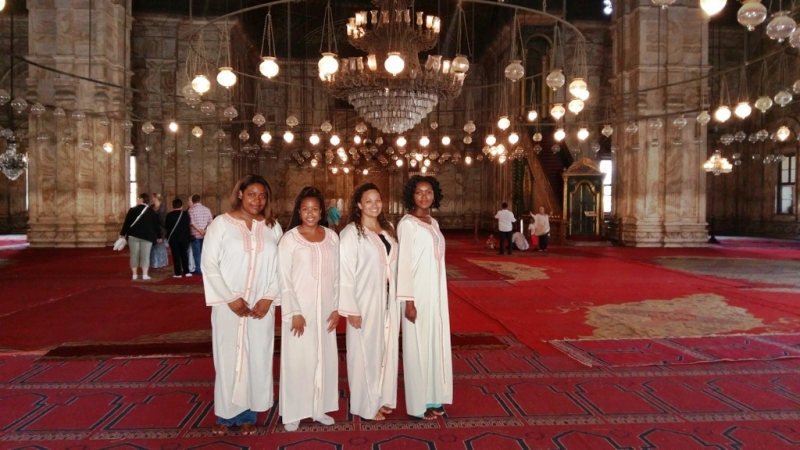 Inside the Alabaster Mosque, Cairo