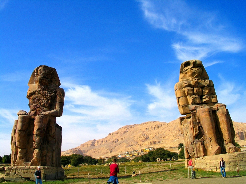 Colossi of Memnon Statue in Luxor