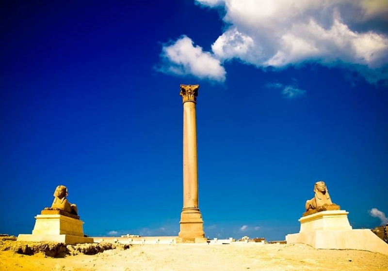 Pompey's Pillar in Alexandria