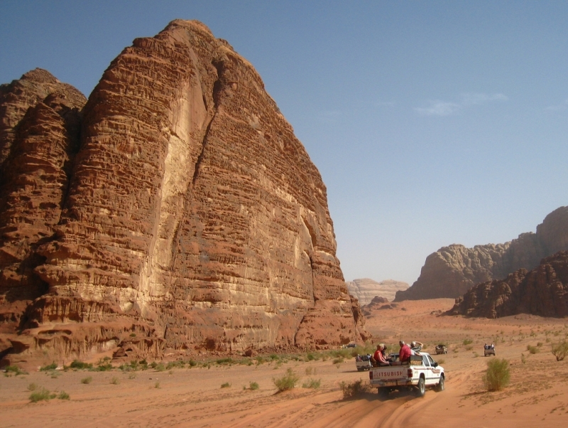 Wadi Rum Rugged Mountains