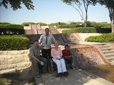 Rollstuhlreisende in Ägypten