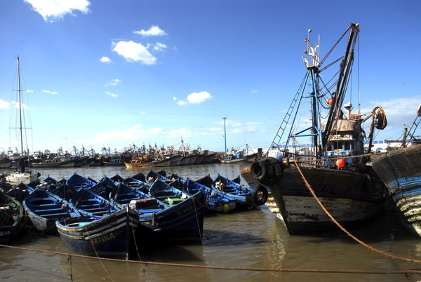 El puerto de Essaouira.