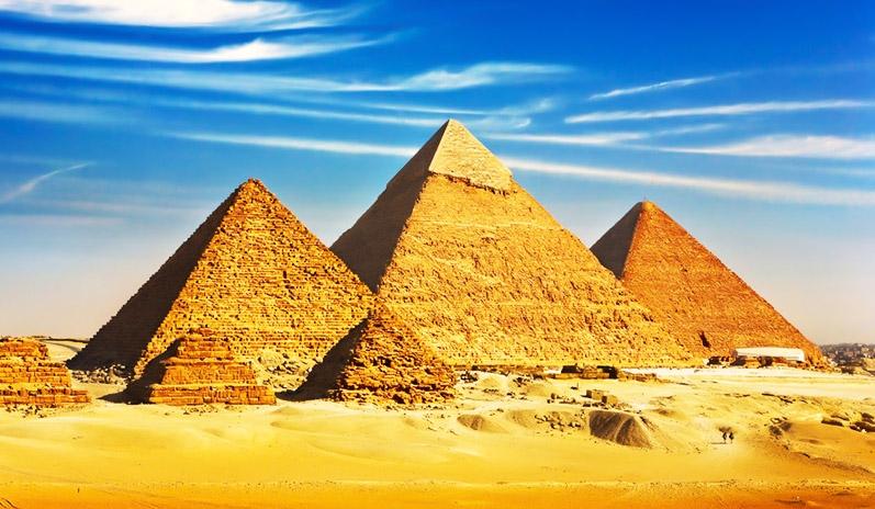 As Pirâmides de Gizé. Egito