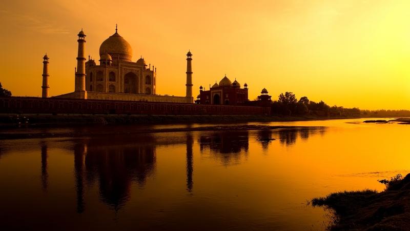 Anochecer en Taj Mahal, Agra