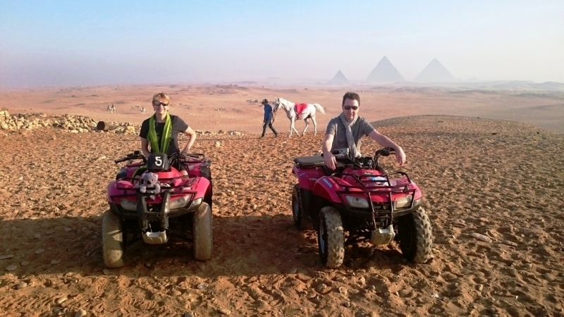 ATV Quad Biking at the Pyramids