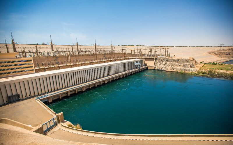 The High Dam in Aswan Egypt