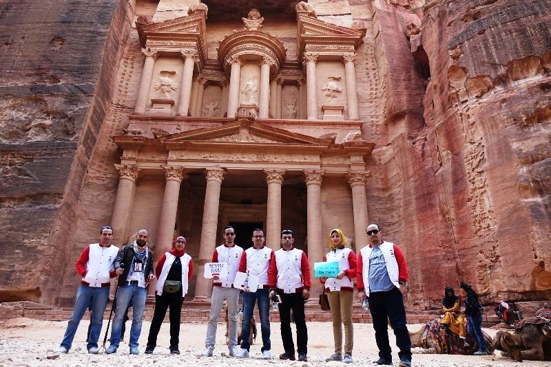 The Treasury in Petra.