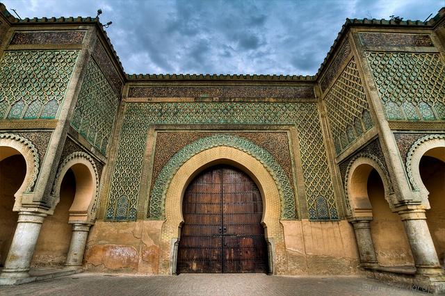 Bab Mansour gate in Meknes