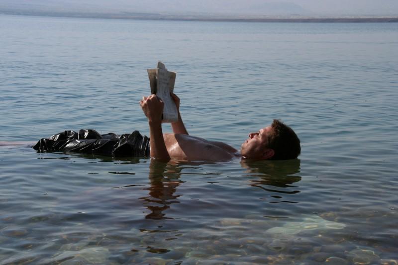 unsinkable Dead Sea water