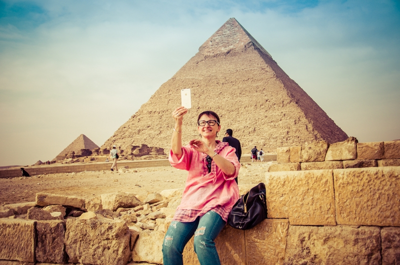 Selfie at the Pyramids