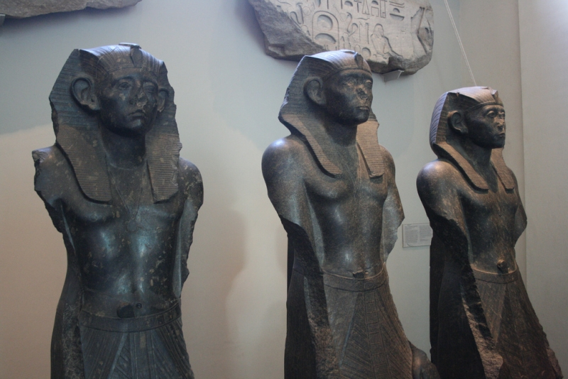 Sesostris III Black Granite Statues, British Museum