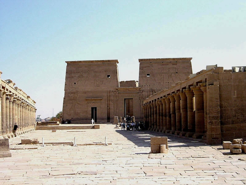 Philae Temple Brightening